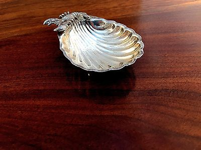 Unusual Lobster Sterling Silver Footed Dish, Personal Ashtray, No Monograms