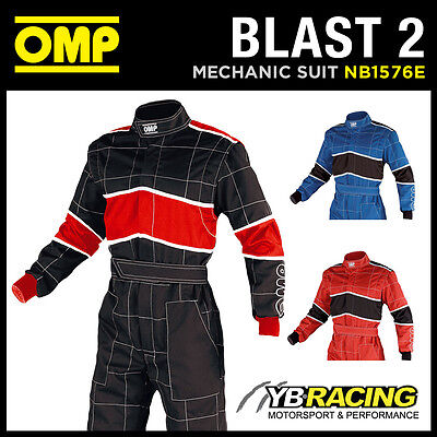 SALE! NB/1576E OMP 'BLAST 2' MECHANIC SUIT PIT CREW OVERALLS for RACING RALLY