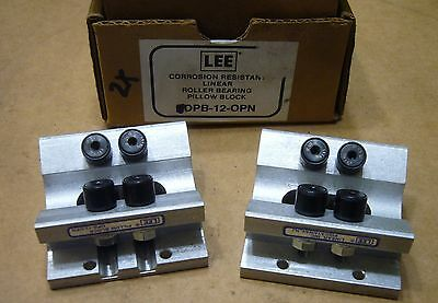 "Lot of 2 Lee 3/4"" Linear Dual Roller Bearing Pillow Block 