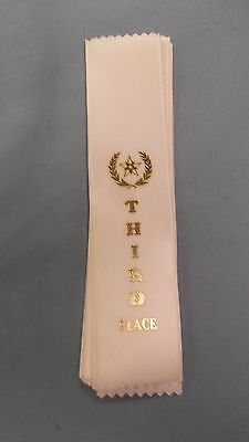 10th TENTH Place grey pinewood derby award ribbons lot of 10