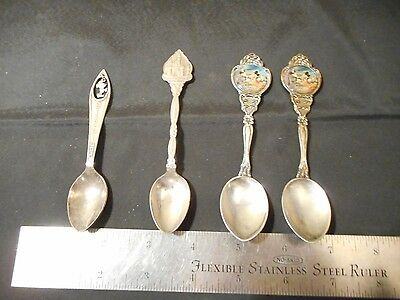 lot of 4 vintage rare Disney collectible spoons Disneyland Mickey's 60th
