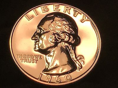 1960-P Silver Proof Washington Quarter - Amazing 90% Silver in Holder Free S/H
