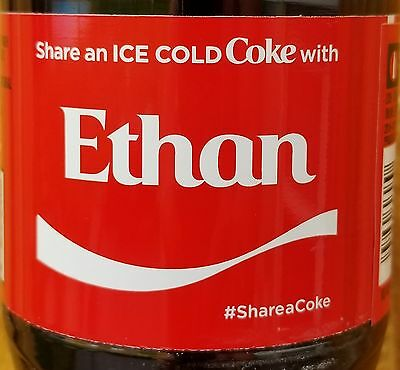 Brand New 2017 Share A Coke With Ethan 20 oz Coca Cola Collectible Bottle