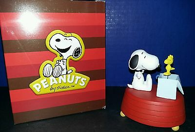 Peanuts Snoopy and Woodstock in the Box Music Box westland giftware