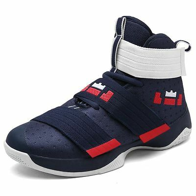 Men Basketball Shoes High Ankle Boots Outdoor Breathable Training Stort Sneakers