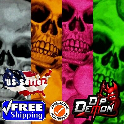 Lm True Skulls Hydrographic Water Transfer Film Hydro Dipping Dip Demon