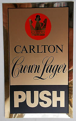 VINTAGE CROWN LARGER - Door Sticker - Original Reflective Style - Bar Collector