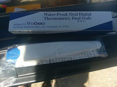 NEW MEDICHOICE Water-Proof Oral Digital Thermometer Dual Scale