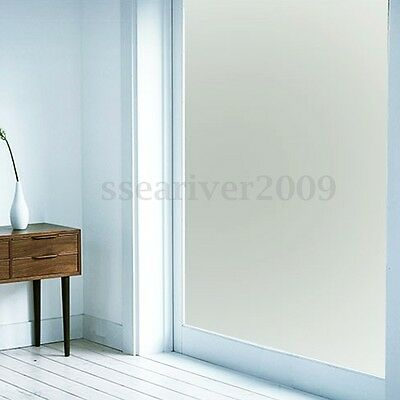 36'' x 10'Ft Frosted Privacy Home Decoration Window Door Glass Tint Film PVC