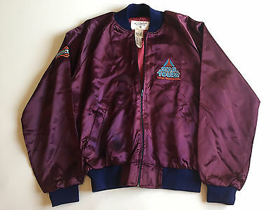 Authentic 1980's Star Tours LARGE purple satin jacket from Tokyo Disneyland RARE