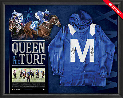 Winx Signed & Framed Mid Silks Official Queen Of The Turf Bowman Waller