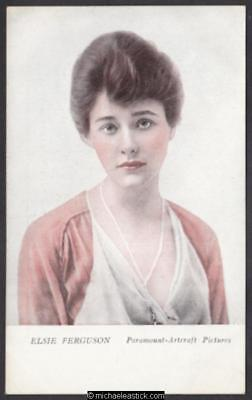 Elsie Ferguson - Sunshine Pictures Advertising Postcard