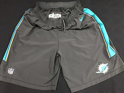 #57 Miami Dolphins Game Used Grey Practice Shorts Size-2Xl W/pockets!