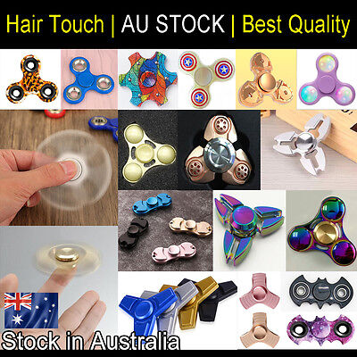Hand Finger Spinner 3D Fidget EDC Focus Stress Reliever For Kids Adults AU Stock