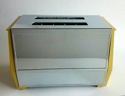 Vintage Kenmore Two-Slice Toaster Chrome Yellow New Never Used MINT MUST SEE