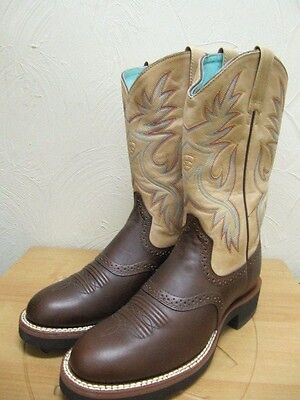 ARIAT - Women's Stockman Boots - Brown / Cream - 7B - Sample