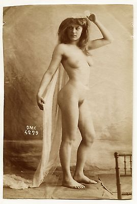 Photo J.M. Canellas - Nu - Tirage albuminé 1890 -