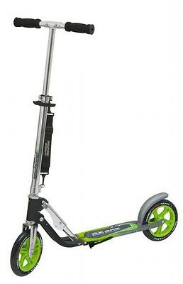 city scooter big wheel alluminio 8 205 verde/argento 205mm Hudora monopattino