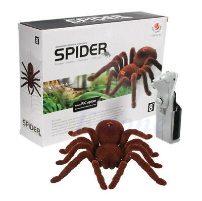 Kid Gift Scary Remote Control Creepy Soft Plush Spider Infrared RC Tarantula Toy