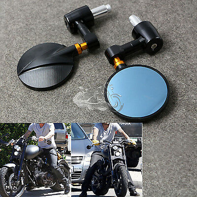 "CNC Aluminum Universal Motorcycle Motorbike Rear-view Mirror 7/8"" Handle Bar End"
