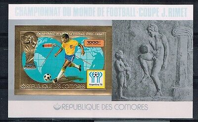 Comores.1978 World Cup.Soccer.Football.Fussball.Gold.Imperforated.MNH.**