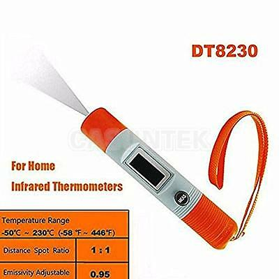 Mini Digital Pen Handheld LCD Non-Contact IR Infrared Thermometer With Strap