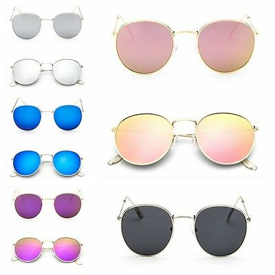 Vintage Mirrored Cat Eye Oversized Fashion Men Women Sunglasses Retro Design