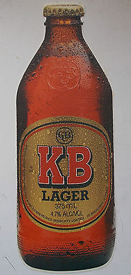 VINTAGE KB LAGER 1980s - Original Vinyl Sticker - 26cm Bar Collector Fridge Door