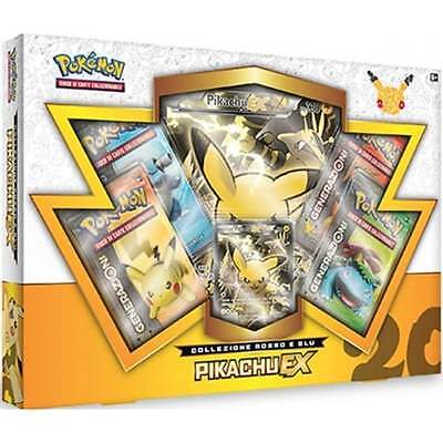 Pokemon Pikachu Ex Red & Blue Collection Box