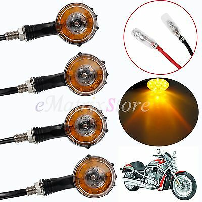 4X 10 LEDs Motorcycle Motorbike Turn Signal Indicator Light Tail Amber Lamp AU