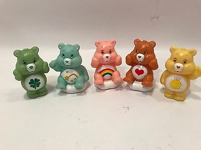 Lot of 5 TCFC CARE BEAR FIGURES Plastic PVC  Cake Toppers