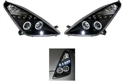 Toyota Celica 2000-2006 Black Style Angel Eyes Headlights Lamps 1 x Pair New