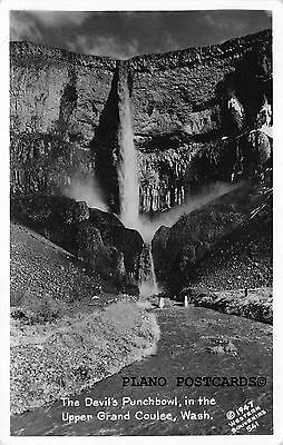 "Grand Coulee Dam, Washington ""Devi's Punchbowl"" Rppc Real Photo Postcard"