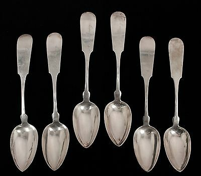 Antique 19c Set 6 American Coin Silver J Gorham & Son Serving Spoons AAFA