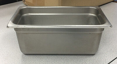 Lot of 10 Next Day Gourmet 1/4 size steam table pan 4 inches deep/NSF/ hotel pan