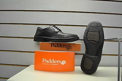 Mens Padders Harvey Black Leather Laced Shoes UK 8 EU 42