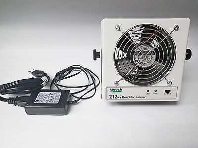 Meech 212V.2 Benchtop Ioniser Two Speed Fan With Power Adapter, Tested, Working!