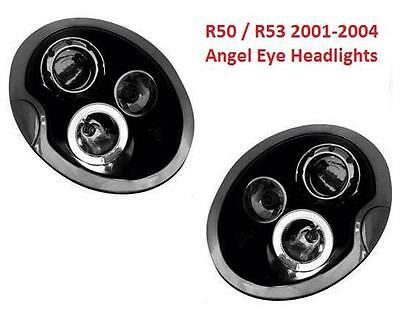 BMW Mini 2001-2004 Black Style Angel Eyes Projector Headlights Lamps 1 x Pair