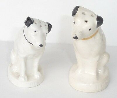 1940's RCA  Victor, Ceramic Dogs, Salt & Pepper Shakers. HIS MASTERS VOICE U.S.A
