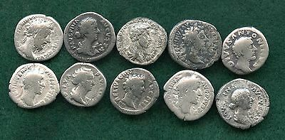 (10) ROME - MIXED LOT ~ 140's AD ~ 1 DENARIUS ~ SILVER