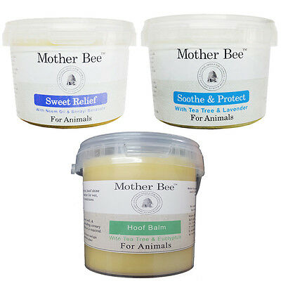 Mother Bee Skin Care Horses Animals Sweet Relief Sooth & Protect and Hoof Balm