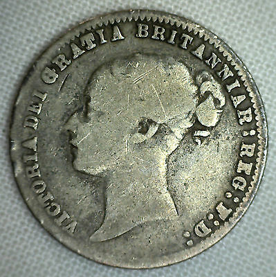 1879 Great Britain 6 Pence KM# 751.2 Good World Coin UK Silver Genuine #P
