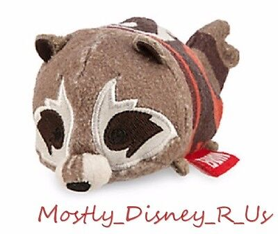 "NEW Disney Store Guardians of the Galaxy Rocket Tsum Tsum Mini Plush 3.5"" Toy"