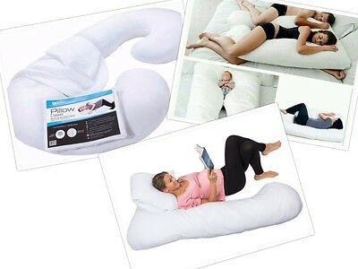 NEW Pillow Body Pregnancy Cover Maternity U White Shape Comfort Bedding Baby