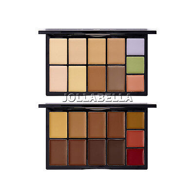 Kiss Cream Contour Palette Color Corrector Concealer Shade Face Makeup Skin Tone