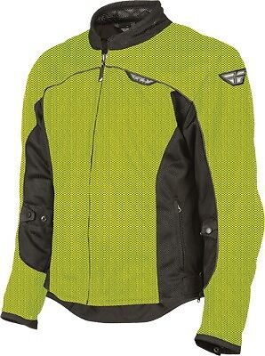 Fly Racing Flux Air Mesh Jacket Water/Wind Resistant Yellow/Black S-3x