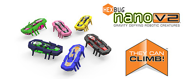Huge Lot Of 18 Brand New Hex Bug Hexbug Nano V2 Single Packs In Assorted Colors!