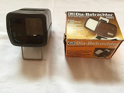 Elle Dia-Debrachter 2001 Mini-Slide Viewer Battery Powered 2X Magnification Used