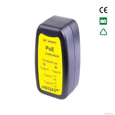 NOYAFA POE Tester NF-400PF Compliant with IEEE 802.3at/af PoE Standard RJ45