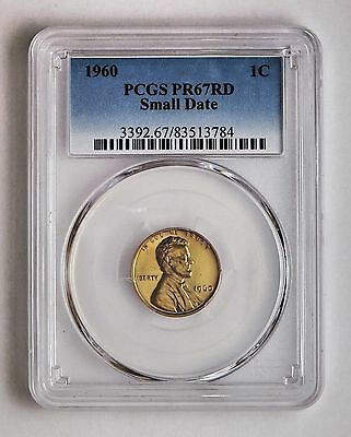 1960 Small Date 1c Proof Lincoln Cent PCGS PR 67 RD